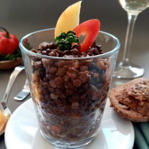 Bio Belugalinsen- Salat 1000g (Vegan)