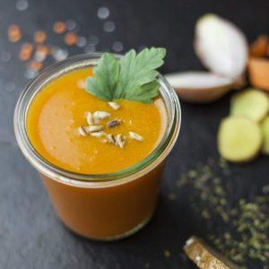 Bio Karotten-Ingwer-Suppe 400g, Vegan, im Pfandglas
