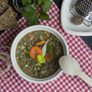 Bio deftiger Linseneintopf mit Kartoffeln 450g (Vegan), Pfandglas