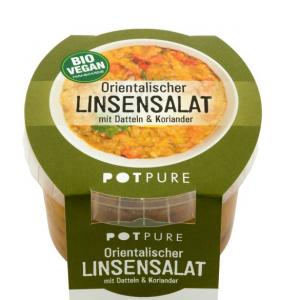 Bio Orientalischer Linsensalat mit Datteln & Koriander, 1000g (Vegan)