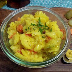 Bio Kartoffelsalat mit Gurke in Senfmarinade, 1000g, vegan,XXL