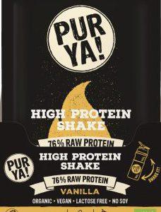PUR YA! BIO Vegan High Protein Drink Vanille, 30 g Portionsbeutel zum Anrühren