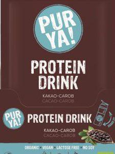 PUR YA! BIO vegan Protein Drink Kakao- Carob Getränkepulver, Portionsbeutel (30g)