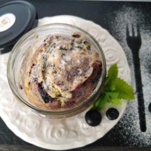 Bio Blaubeer-Kuchen im Glas gebacken, 170 g, im Pfandglas