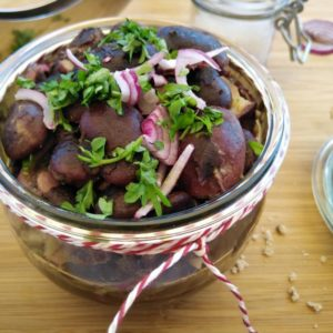 Bio steirischer Käferbohnen-Salat, vegan, 230g, mit Kürbiskernöl