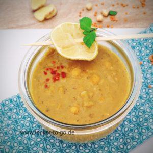 NEU! Bio Kichererbsen-Kokoseintopf mit Ingwer und roten Linsen, vegan, 400gr, im Pfandglas